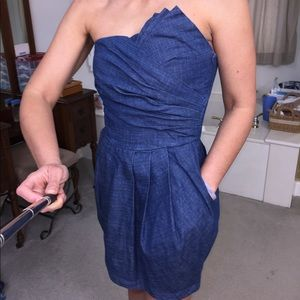 Daisy Strapless Denim Dress